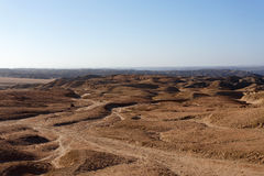 Panorama of fantrastic Namibia moonscape landscape Stock Images
