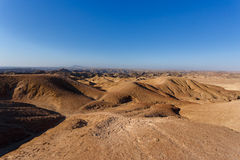 Panorama of fantrastic Namibia moonscape landscape Stock Photography