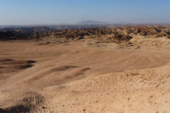 Panorama of fantrastic Namibia moonscape landscape Stock Photo