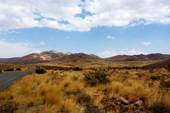 Panorama of fantrastic Namibia moonscape landscape Stock Image