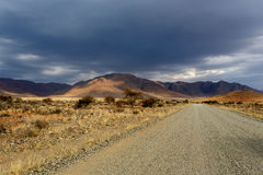 Panorama fantrastic Namibia-moonscape Landschaft Stockfotografie