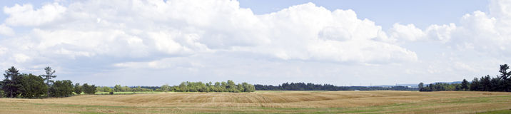 Panorama of a Farmer's Field Royalty Free Stock Photos