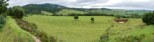 Panorama of the farming land. Royalty Free Stock Images