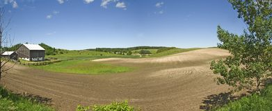 Panorama of farmland Stock Photo