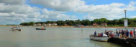 Panorama of   Felixstowe Ferry. Stock Photography