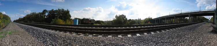 Panorama ferroviario imagenes de archivo