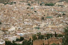 Panorama of Fes #2. Panoramic view at part of Fes town (Morocco Stock Photos