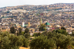 Panorama of the Fes Stock Photography