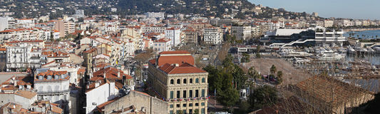 Cannes panorama Royalty Free Stock Image