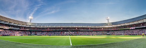Panorama Feyenoord sports stadium de Kuip Stockbilder