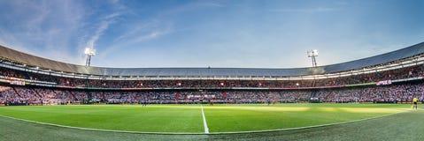 Panorama Feyenoord sports stadium de Kuip Stockbilder