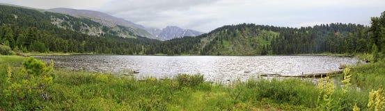 Panorama fifth Karakol lakes Royalty Free Stock Photos