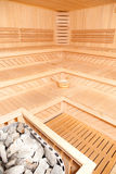 Panorama Of Finnish Sauna Royalty Free Stock Photos