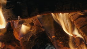 Panorama of the fire slow motion stock video footage