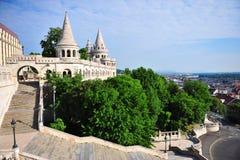 Panorama of Fisherman's bastion, Budapest. City, Hungary Stock Photo