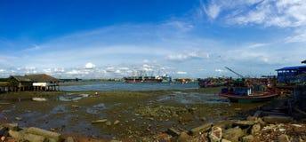 Panorama of fishing village Royalty Free Stock Photos