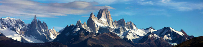 Panorama of Fitz Roy Royalty Free Stock Photography