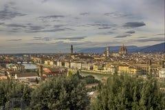 Panorama- Florence Arkivfoto