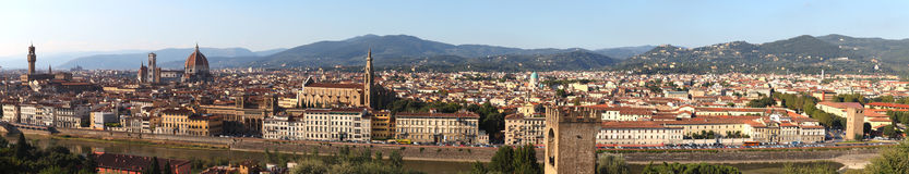 Panorama of Florence city, Tuscany Royalty Free Stock Image