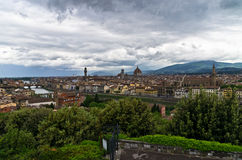 Panorama of Florence with dramatic sky before a storm Royalty Free Stock Photo