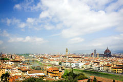 Panorama in Florence, Duomo and palazzo Vecchio Royalty Free Stock Photo