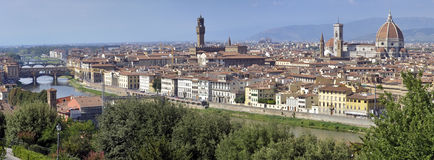 Panorama of Florence, Italy. Panoramic view of Florence in Italy from Piazzale Michelangelo Royalty Free Stock Image