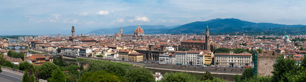 Panorama of Florence, Italy. Daylight Stock Images