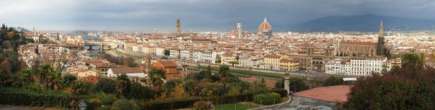 Panorama of Florence, Italy Royalty Free Stock Photo