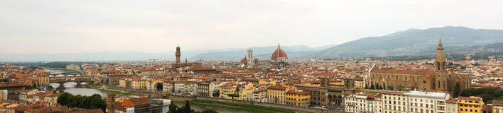 Panorama of Florence, Italy Royalty Free Stock Images