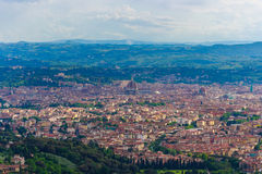 Panorama of Florence Italy. From Terrazzo Fiesole Royalty Free Stock Photography