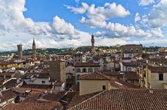 Panorama of Florence with Palazzo Vecchio and other landmarks, Tuscany Royalty Free Stock Image