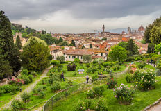 Panorama of Florence and Saint Mary of the Flower in Florence Stock Photo