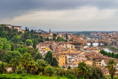 Panorama of Florence and Saint Mary of the Flower in Florence Royalty Free Stock Images