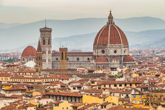 Panorama of Florence and Saint Mary of the Flower in Florence Stock Images