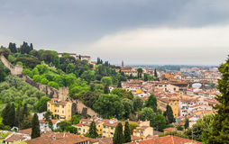 Panorama of Florence and Saint Mary of the Flower in Florence Stock Photography