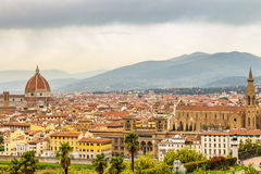 Panorama of Florence and Saint Mary of the Flower in Florence Royalty Free Stock Image