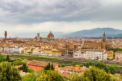 Panorama of Florence and Saint Mary of the Flower in Florence Stock Photos