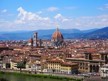 Panorama of Florence in summer stock image