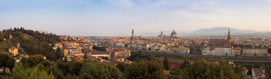Panorama of Florence walley in morning sun Royalty Free Stock Image