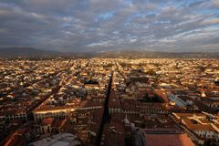 Panorama of Florence from top of the Santa Maria Del Fiore cathedral stock image