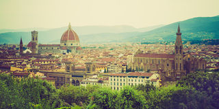 Panorama of Florence Stock Images