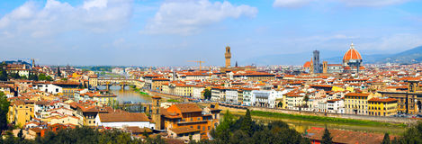 Panorama in Florenz Stockfotografie