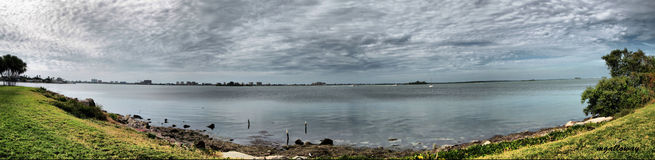 Panorama of Florida bay Stock Photos