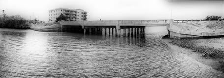 Panorama of Florida bridge Stock Image