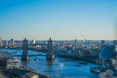 Panorama- flyg- sikt av London Royaltyfri Fotografi