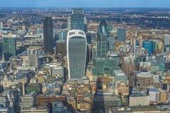 Panorama- flyg- sikt av London Arkivbilder