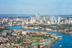Panorama- flyg- sikt av London Royaltyfria Foton