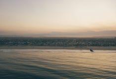 Panorama- flyg- sikt av Los Angeles arkivfoto