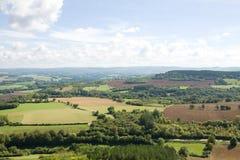 Panorama- flyg- sikt i Frankrike Royaltyfri Bild