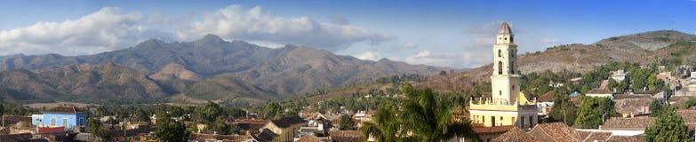 Panorama- flyg- sikt på Trinidad med Lucha Contra Bandidos, Kuba Arkivfoton